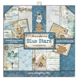 Stamperia - Double-Sided 12 x 12 Inch Paper Pack - Blue Stars